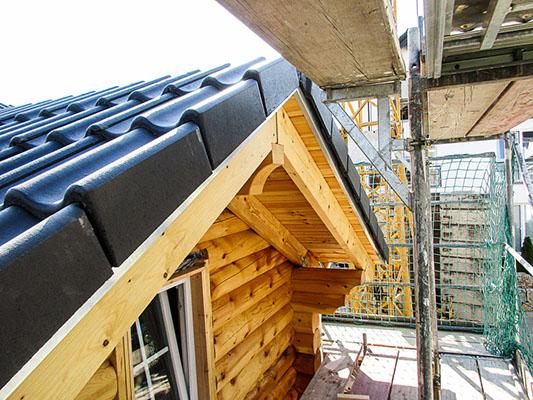 neubau eines rundblockhbohlenhauses bei mainz. Black Bedroom Furniture Sets. Home Design Ideas